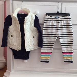 Baby Gap Outfit - Vest, Onesie and leggings